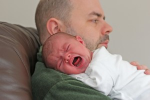 Colic Crying Newborn Baby